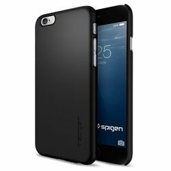 Puzdro Spigen Thin Fit pre Apple iPhone 6 a 6S, Smooth Black