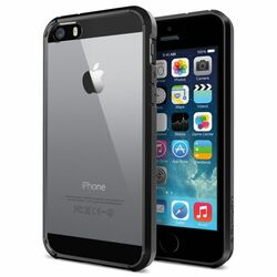 Puzdro Spigen Ultra Hybrid pre Apple iPhone 5, 5S a SE, Black