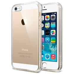 Puzdro Spigen Ultra Hybrid pre Apple iPhone 5, 5S a SE, Crystal clear