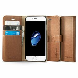 Puzdro Spigen Wallet S pre Apple iPhone 7 a iPhone 8, Brown