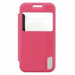 Puzdro USAMS Merry S-View pre Samsung Galaxy Ace 4, Pink