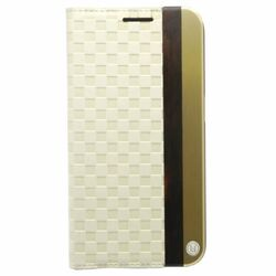 Puzdro Uunique Leather Folio pre Samsung Galaxy S6 - G920F, White