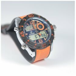 Quamer Outdoor Watch, Black/Orange + oranžový remienok