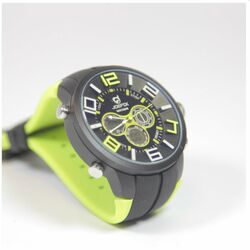 Quamer Sport Watch, Black/Lime