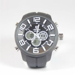 Quamer Sport Watch, Black/White