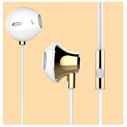 Stereo Headset USAMS EJOY s 3.5 mm jack konektorom, Gold