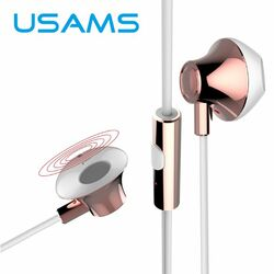 Stereo Headset USAMS EJOY s 3.5 mm jack konektorom, Rose Gold