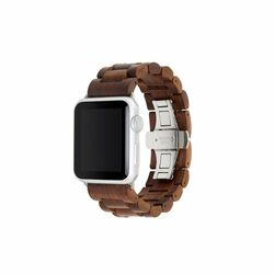 Woodcessories EcoStrap Band 38mm pre Apple Watch, Walnut Silver