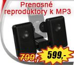 Prenosné reproduktory Speed-Link Compact MP3 iba za 599,-Sk