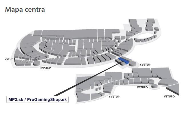 Atrium OPTIMA - Poloha predajne